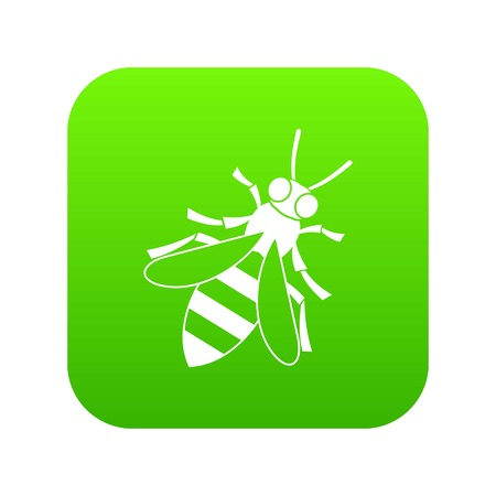 Honey bee icon digital green for any design isolated on white vector illustration