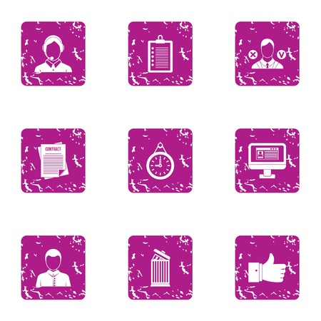 Team luck icons set. Grunge set of 9 team luck vector icons for web isolated on white background
