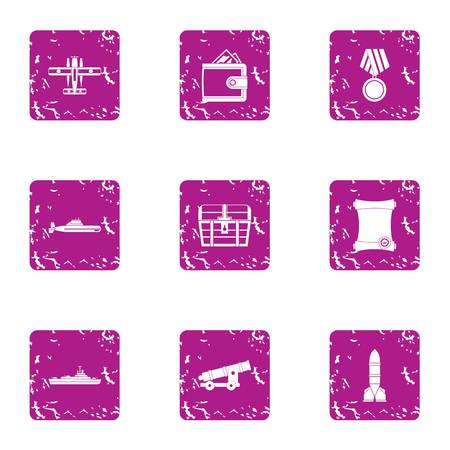Guerdon icons set. Grunge set of 9 guerdon vector icons for web isolated on white background