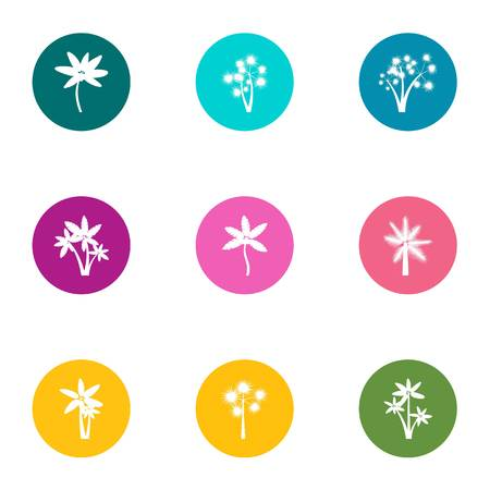 Flower day icons set. Flat set of 9 flower day vector icons for web isolated on white background