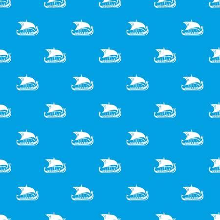 Scandinavian ship pattern vector seamless blue Stock Vector - 107042159