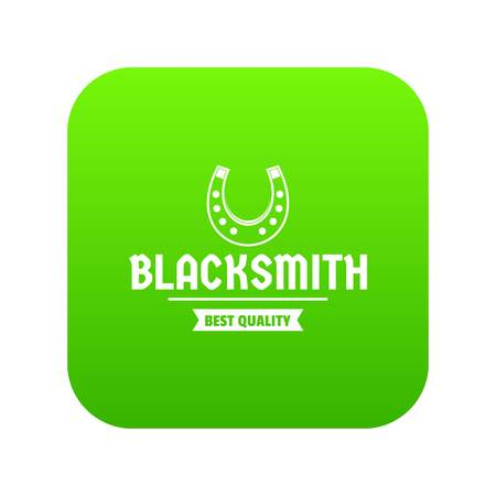 Shop blacksmith icon green vector