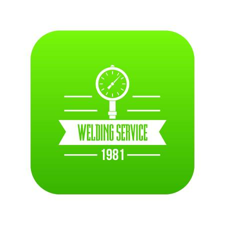 Welding service icon green vector  イラスト・ベクター素材