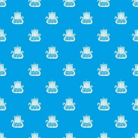 Small ship pattern vector seamless blue