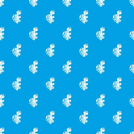 Funny turtle pattern vector seamless blue