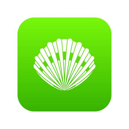 Pearl shell icon digital green