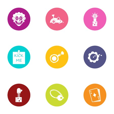 Hoax icons set. Flat set of 9 hoax vector icons for web isolated on white background