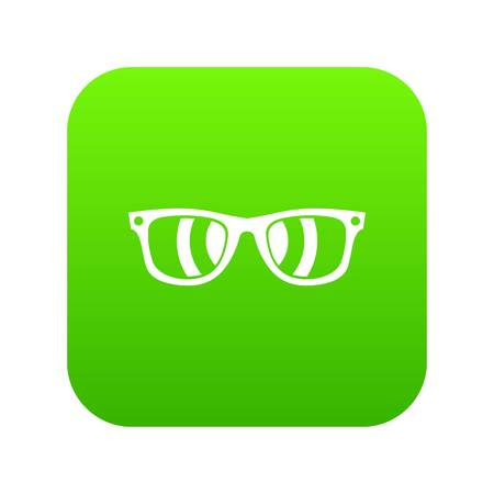 Sunglasses icon digital green for any design isolated on white vector illustration Vector Illustration