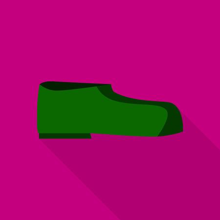 Man boot icon, flat style