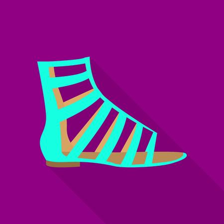 Sandal icon, flat style