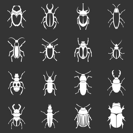 Bugs icons set grey Banque d'images - 107096871