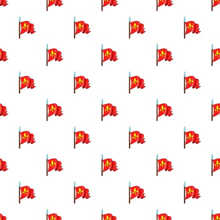Medieval knight flag pattern, cartoon style