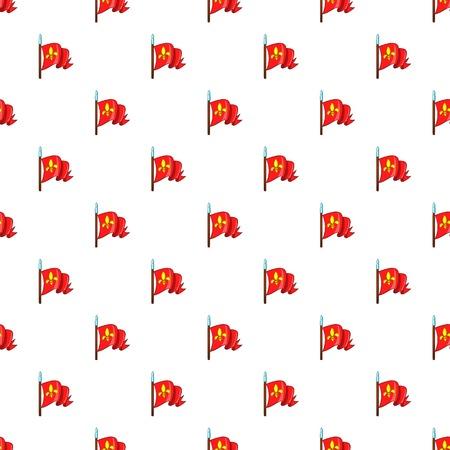 Medieval knight flag pattern, cartoon style