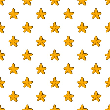 Five pointed star pattern, cartoon style Stock Photo