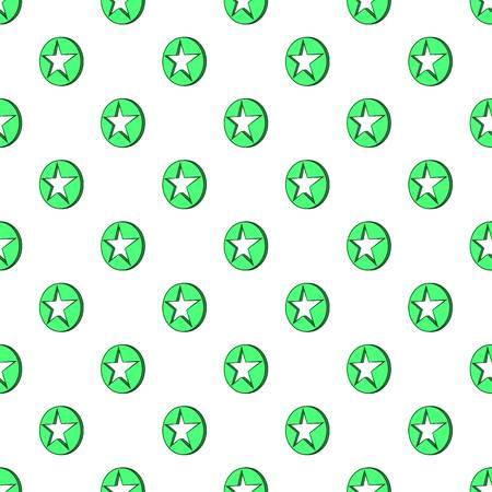 Star in circle pattern. Cartoon illustration of star in circle pattern for web Stock Photo