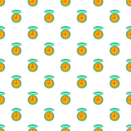 Pocket watch pattern. Cartoon illustration of pocket watch pattern for web