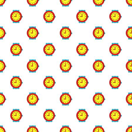 Round wrist watch pattern. Cartoon illustration of round wrist watch pattern for web