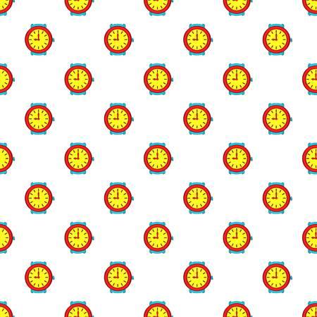 Round wrist watch pattern. Cartoon illustration of round wrist watch pattern for web