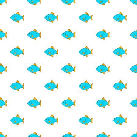 Fish pattern. Cartoon illustration of fish pattern for web