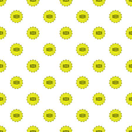Cover beer pattern. Cartoon illustration of cover beer pattern for web Stock Photo
