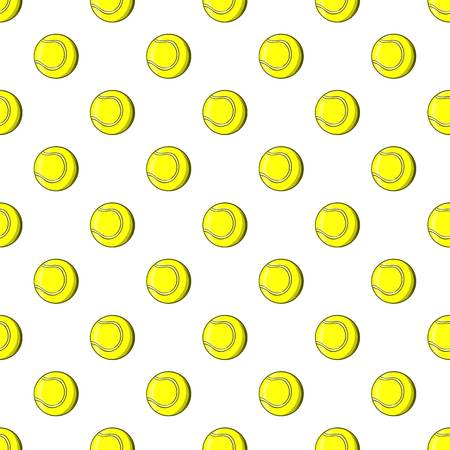Tennis ball pattern, cartoon style Stock Photo