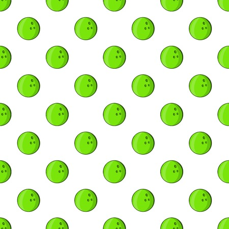 Bowling ball pattern, cartoon style