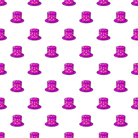Hat of magician pattern. Cartoon illustration of hat of magician pattern for web