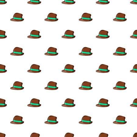 Men hat pattern. Cartoon illustration of men hat pattern for web Stock Photo
