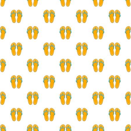 Flip flops pattern, cartoon style