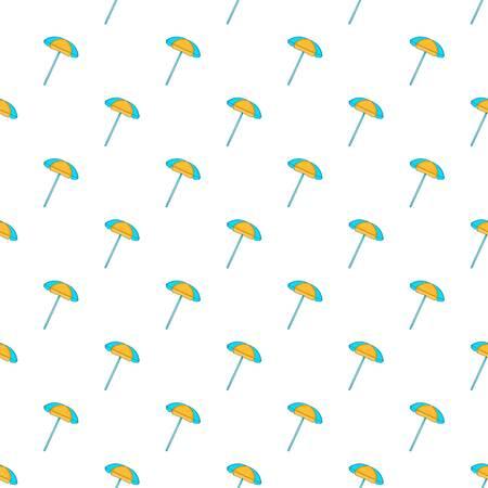 Beach umbrella pattern, cartoon style Stock Photo