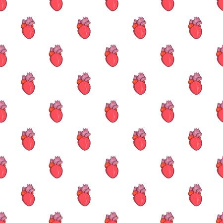 Heart human pattern, cartoon style