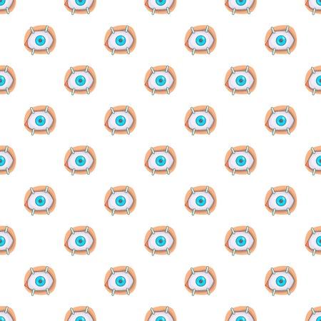 Eye treatment pattern, cartoon style