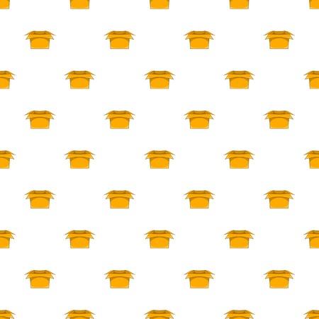 Carton box pattern, cartoon style