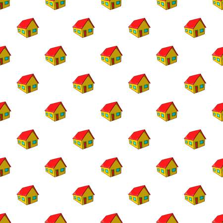 Residential house pattern, cartoon style