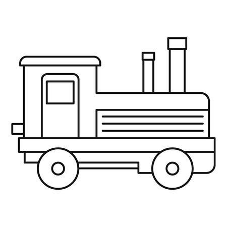 Locomotive icon, outline style Stock Photo