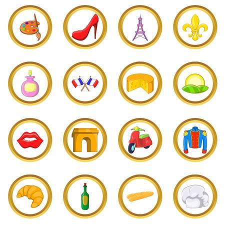 France en style cartoon isolé sur fond blanc