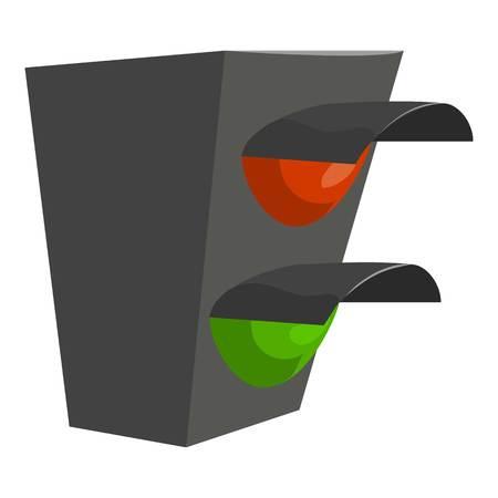 Traffic light icon. Cartoon illustration of traffic light icon for web design Stock Photo