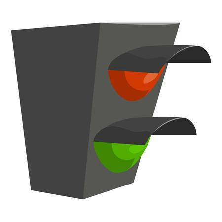 Traffic light icon. Cartoon illustration of traffic light icon for web design Фото со стока