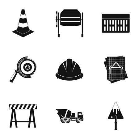 Repair icons set. Simple illustration of 9 repair icons for web Stock Photo