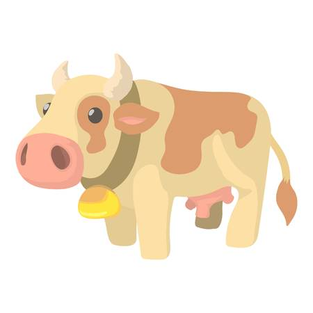 Cow icon. Cartoon illustration of cow icon for web