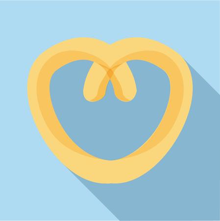 Pretzel icon. Flat illustration of pretzel icon for web 스톡 콘텐츠