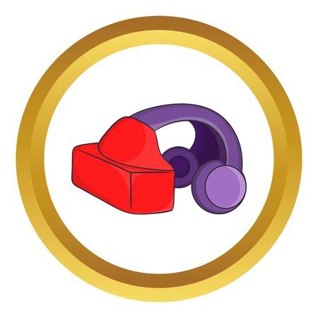 VR headset icon Stock Photo