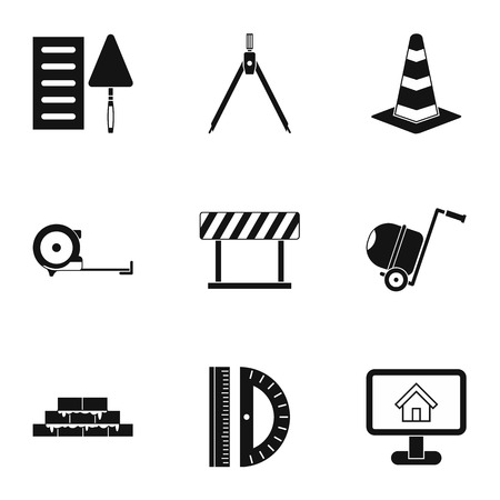 Repair tools icons set. Simple illustration of 9 repair tools icons for web