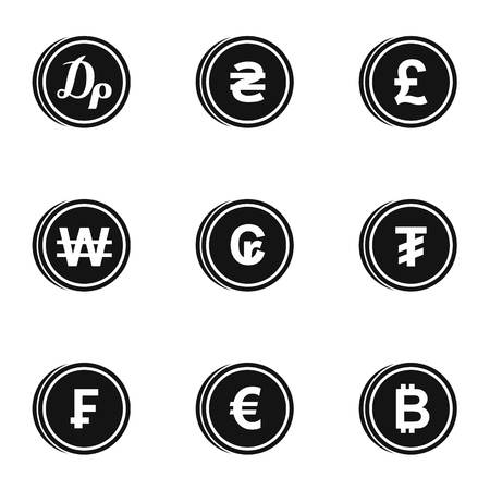 Money icons set, simple style