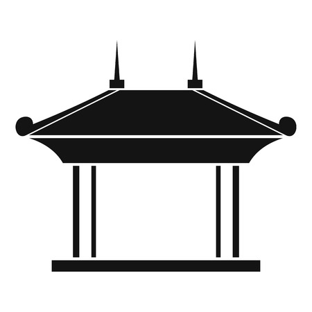 Pagoda icon, simple style