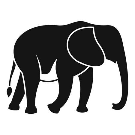 Wild elephant icon, simple style 版權商用圖片