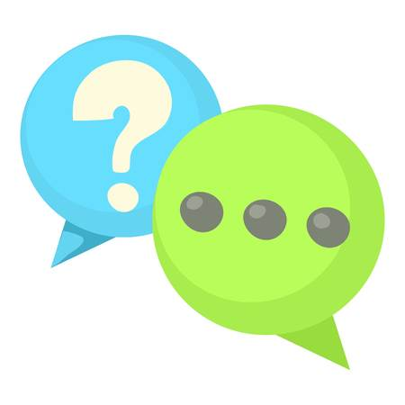 Question and exclamation speech bubbles icon Stock Photo