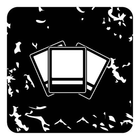 Photos icon. Grunge illustration of photos icon for web design Foto de archivo - 107286992