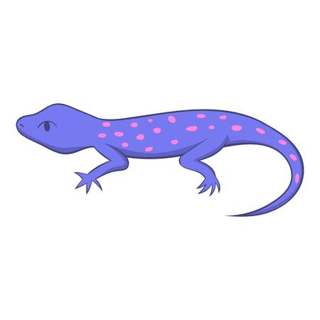 Spotted lizard icon, cartoon style Banque d'images - 107419940
