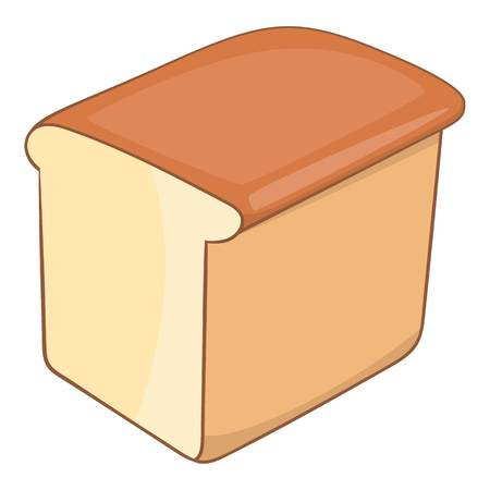 Bread icon, cartoon style